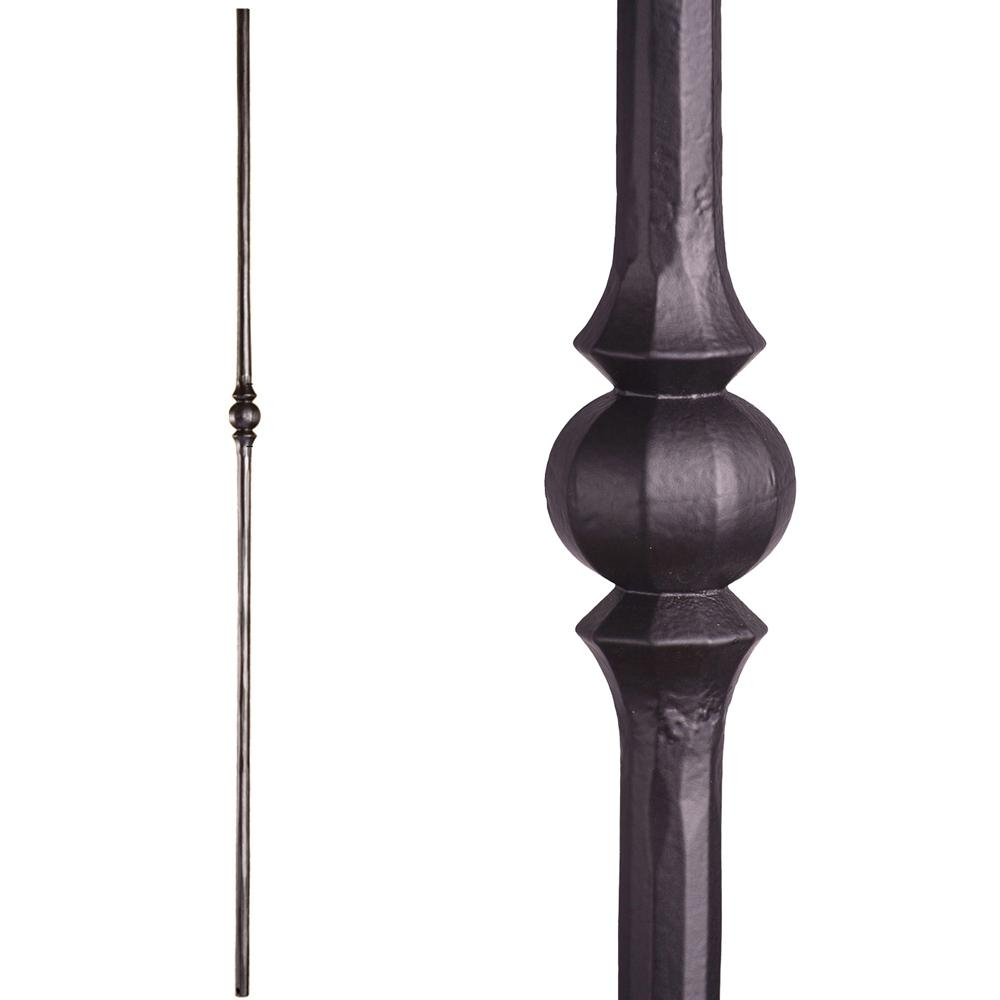 House Of Forgings Tuscan Round Hammered 44 In X 5625 In Satin | Iron Balusters Home Depot | Railing Kit | Ole Iron | Staircase Remodel | Oil Rubbed Copper Vein | Baluster Railing