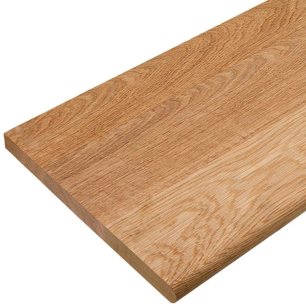 36 In X 11 1 2 In Unfinished Solid Red Oak Stair Tread | 36 Inch Oak Stair Treads