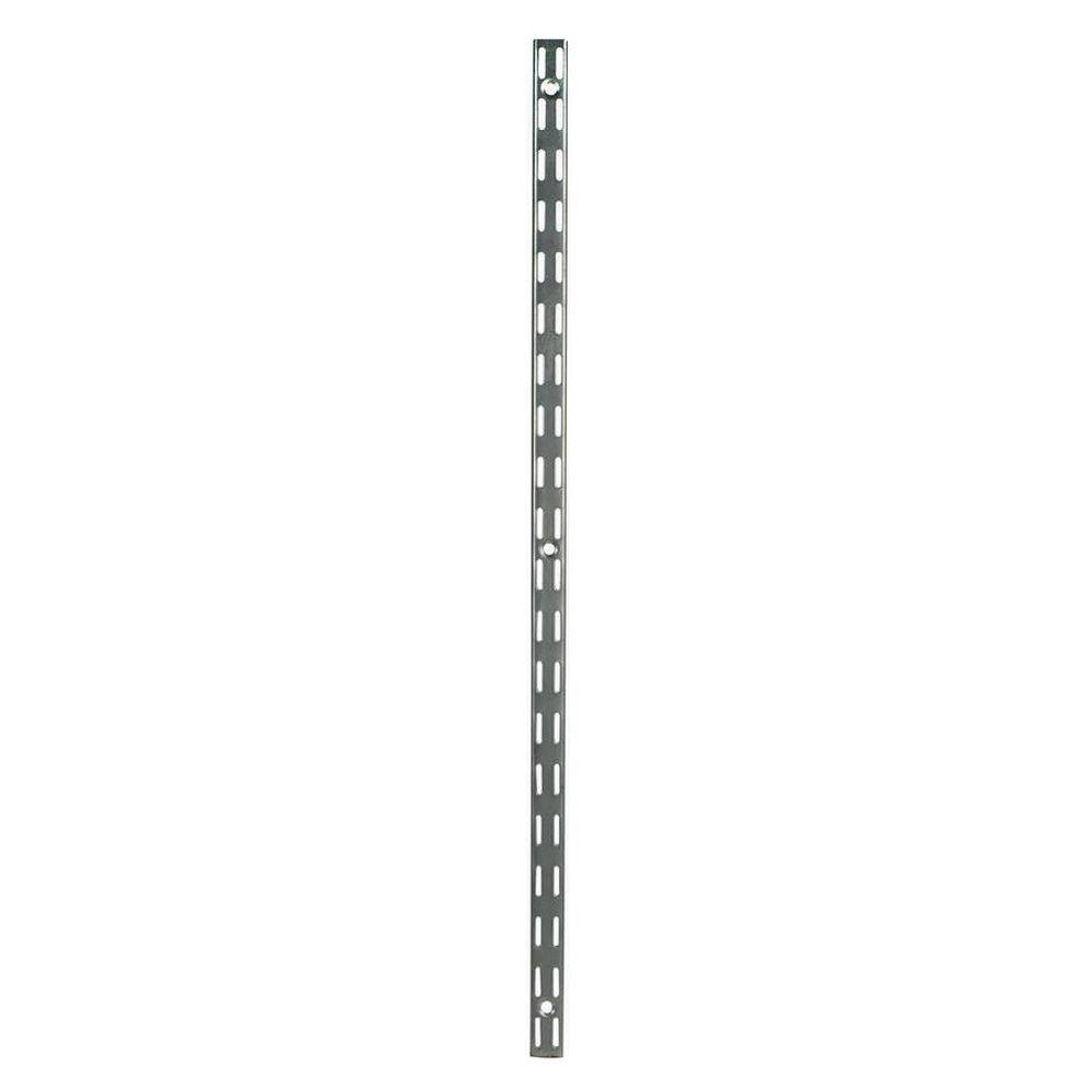 Rubbermaid 70 In Satin Nickel Twin Track Upright