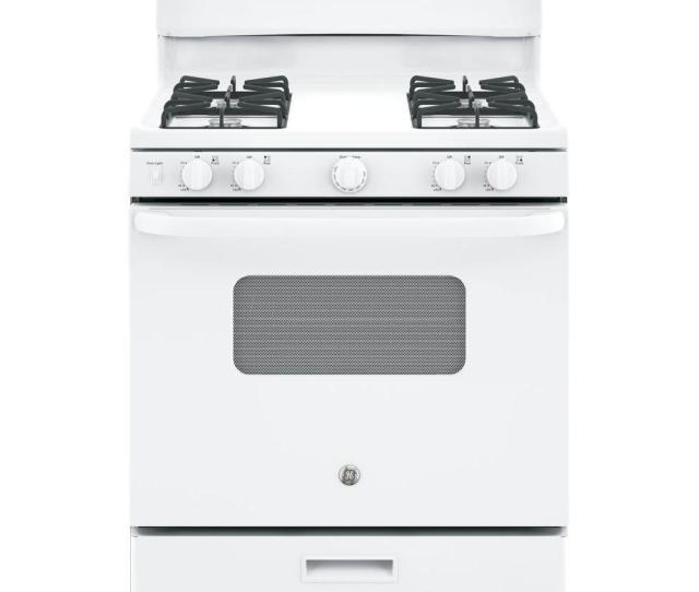 Cu Ft Free Standing Gas Range In White