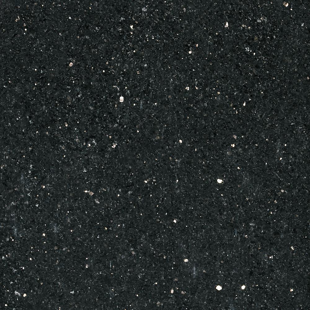 Stonemark 3 in. x 3 in. Granite Countertop Sample in Black ... on Dark Granite Countertops  id=67325