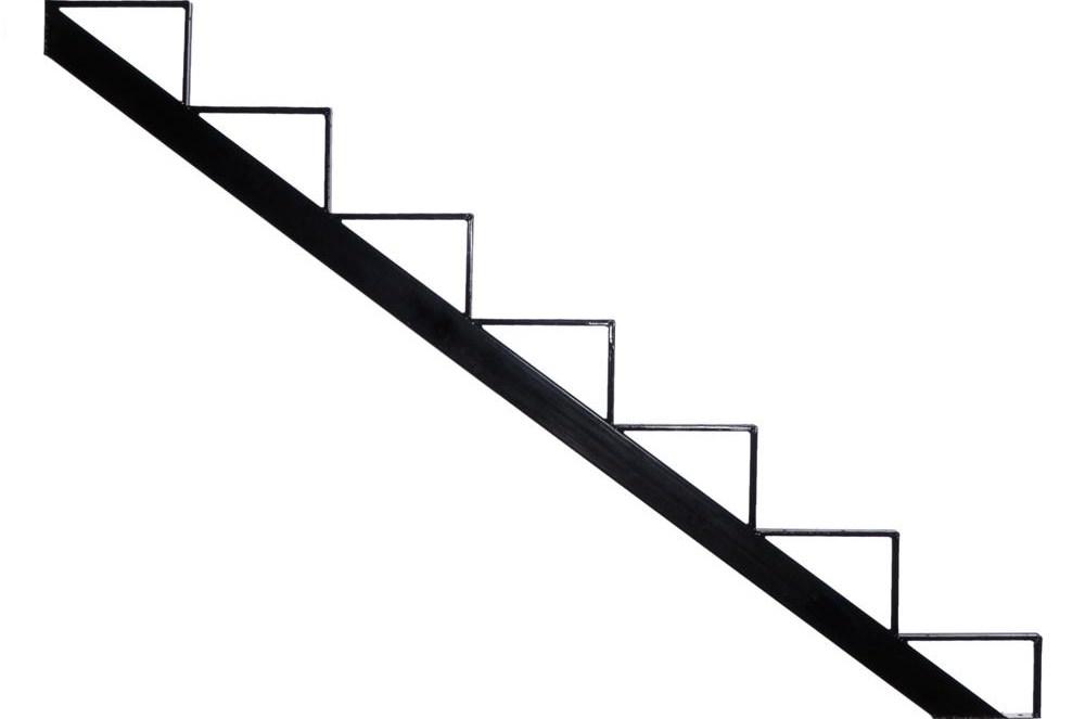 Pylex 7 Steps Steel Stair Stringer Black 7 1 2 In X 10 1 4 In | Home Depot Stairs Outdoor | Treated Pine | Stair Tread | Stair Railing Kit | Metal | Handrail