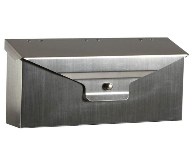 Gibraltar Mailboxes Delegance Steel Horizontal Wall Mount Mailbox In Stainless Steel