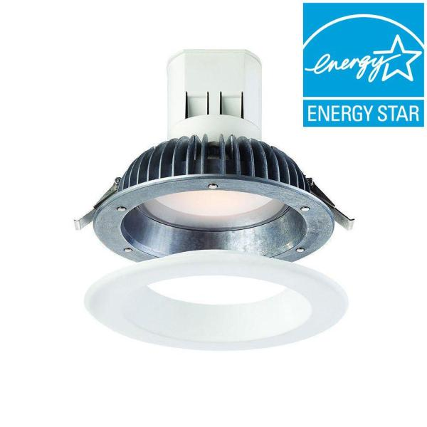 EnviroLite Easy Up with Magnetic Trim 6 in  White Integrated LED     EnviroLite Easy Up with Magnetic Trim 6 in  White Integrated LED Recessed  Kit EV608941WH30   The Home Depot