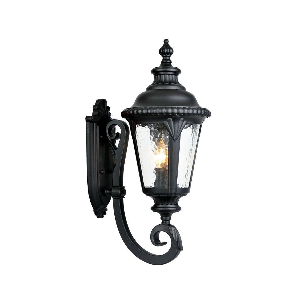 Acclaim Lighting Surrey Collection 3-Light Matte Black ... on Outdoor Lighting Fixtures Wall Mounted id=37446
