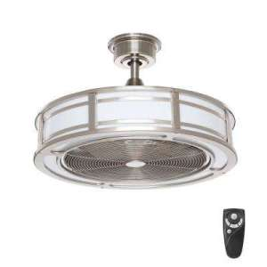 Outdoor   Ceiling Fans   Lighting   The Home Depot LED Indoor Outdoor Brushed Nickel Ceiling Fan with Light Kit with