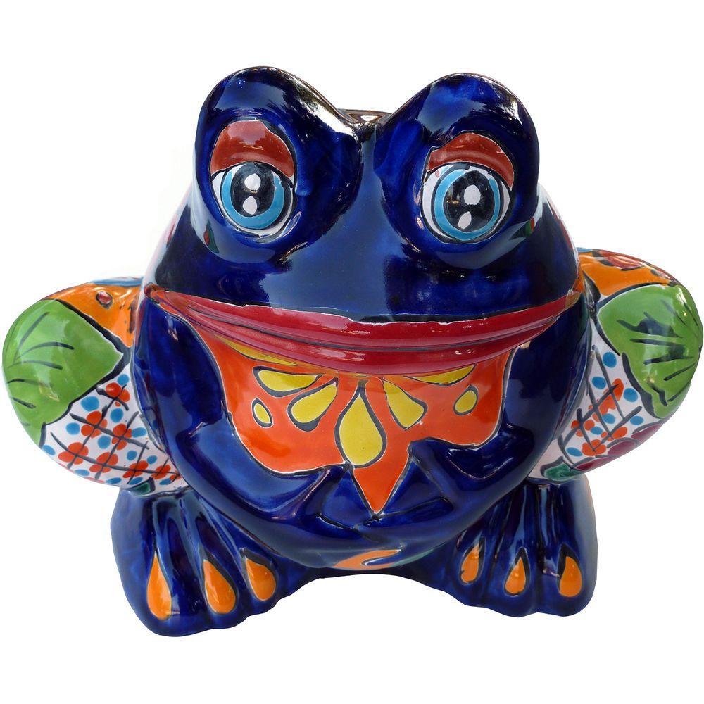 ✓10 in. Talavera Clay Frog Planter-DISCONTINUED - a101