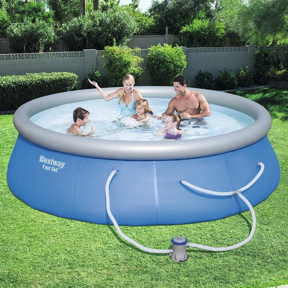 Bestway Fast Set 13 Ft Round X 33 In Deep Inflatable