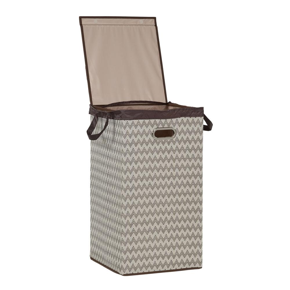 Unbranded Collapsible Laundry Hamper With Lid 5624 The Home Depot