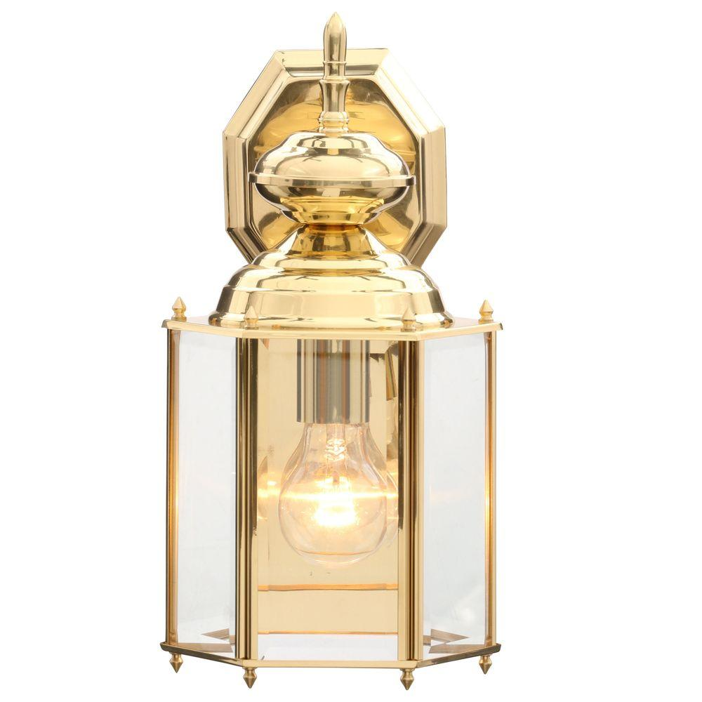 Progress Lighting Brass Guard Collection Polished Brass 14 ... on Brass Wall Sconces Non Electric Lighting id=80780