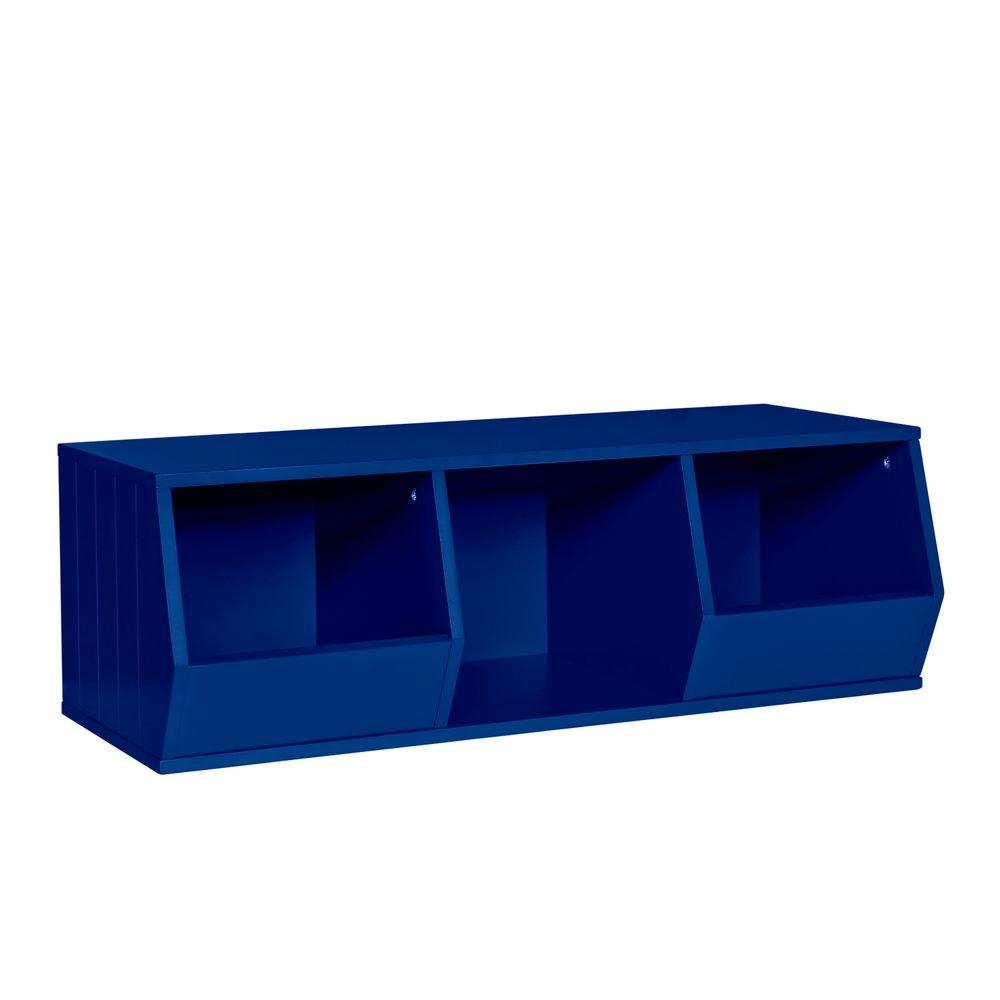 36 in. x 12 in. Stackable 2-Veggie Bins and 1-Cube Storage Organizer ...