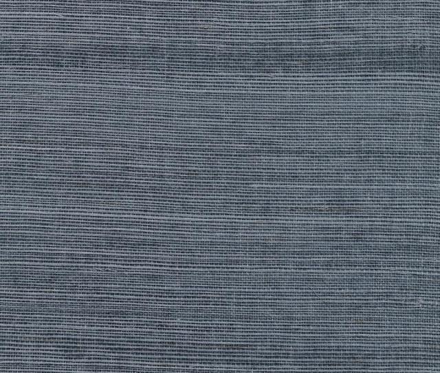 Victoria Indigo Grass Cloth Wallpaper