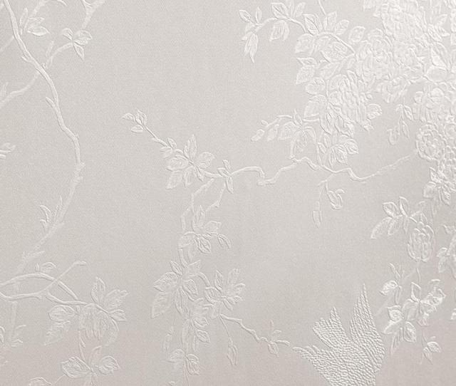 Graham Brown White Shimmer Spring Blossom Wallpaper