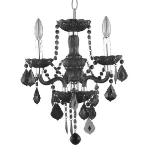 Hampton Bay 3 Light Chrome Maria Theresa Chandelier With Black Acrylic C873bk03 The Home Depot