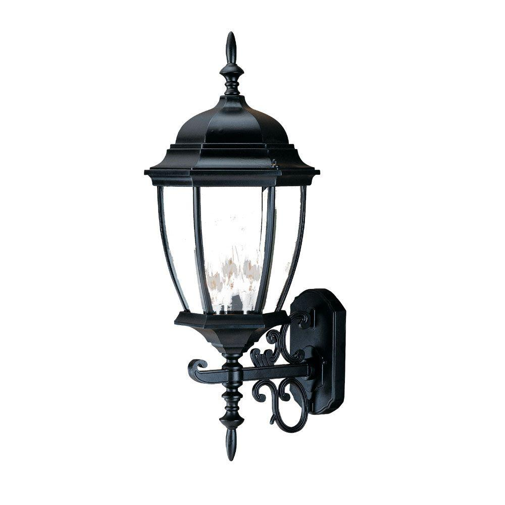 Acclaim Lighting Wexford Collection 3-Light Matte Black ... on Outdoor Lighting Fixtures Wall Mounted id=73134