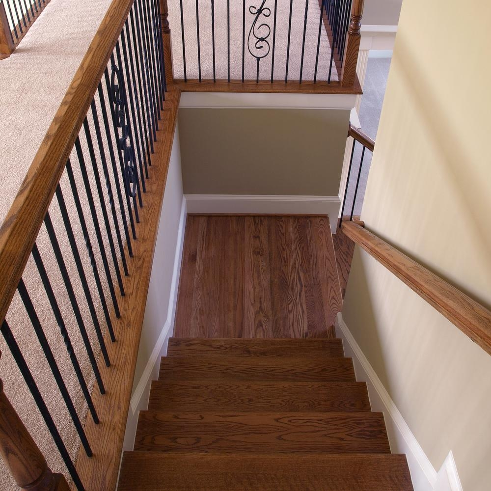 Stair Parts 96 In X 5 1 4 In Red Oak Landing Tread 6Lt0R 514 | Real Wood Stair Treads | Vertical Bamboo Stair | Replacement | Acacia | Self Adhesive | Riser