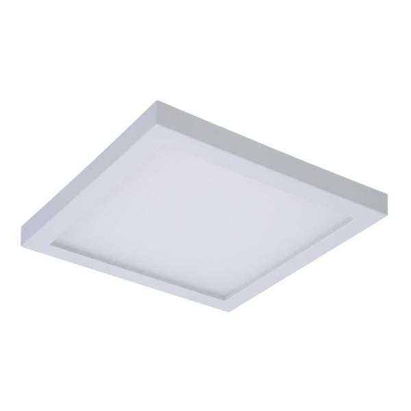 Halo SMD 4 in  White Integrated LED Recessed Square Surface Mount     White Integrated LED Recessed Square Surface Mount Ceiling Light Fixture  with