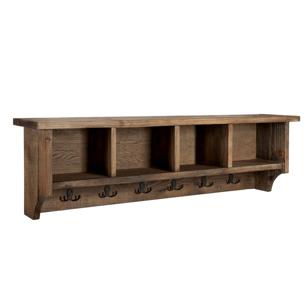 Alaterre Furniture Modesto 48 In Coat Hooks With Storage In Natural Amsa2420 The Home Depot