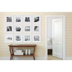 Wall Frames   Wall Decor   The Home Depot White Collage Picture Frame Set