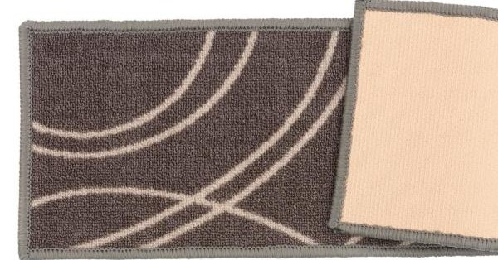 World Rug Gallery Contemporary Stripe Non Slip Stair Treads 8 6 X | Rug Stair Treads Non Slip | Vinyl Flooring | Skid Resistant | 8.5 X26 | Overstock | Mat