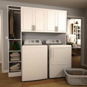 Modifi Madison 75 in. W White Tower Storage Laundry ... on Laundry Cabinets  id=17464