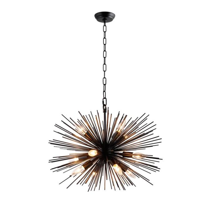Y Decor 12 Light Black Sputnik Chandelier