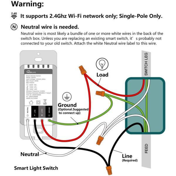 matrix decor single pole smart wifi dimmer switch light