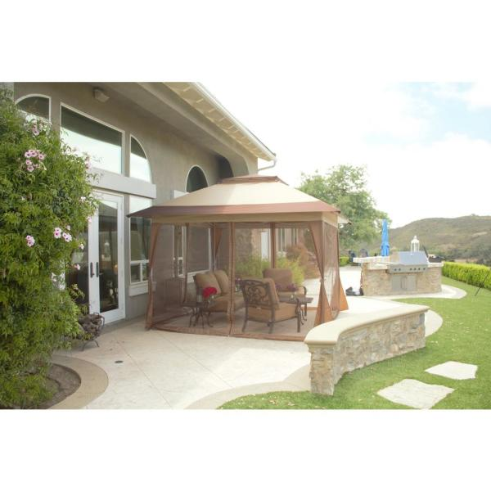 solar panel light patio gazebo with