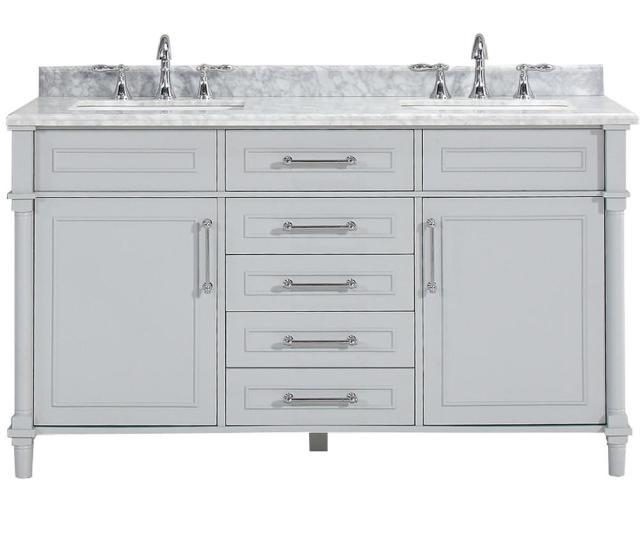 D Double Bath Vanity In Dove Grey