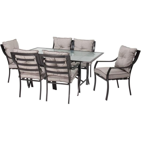 outdoor patio 7 piece dining set Hanover Lavallette 7-Piece Patio Outdoor Dining Set