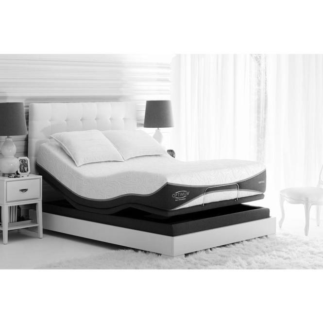 Sealy Posturepedic Reflexion Adjule Split California King Box Spring 60966332 The Home Depot