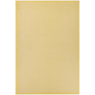 Machine Made 9 X 13 Yellow Outdoor Rugs Rugs The Home Depot