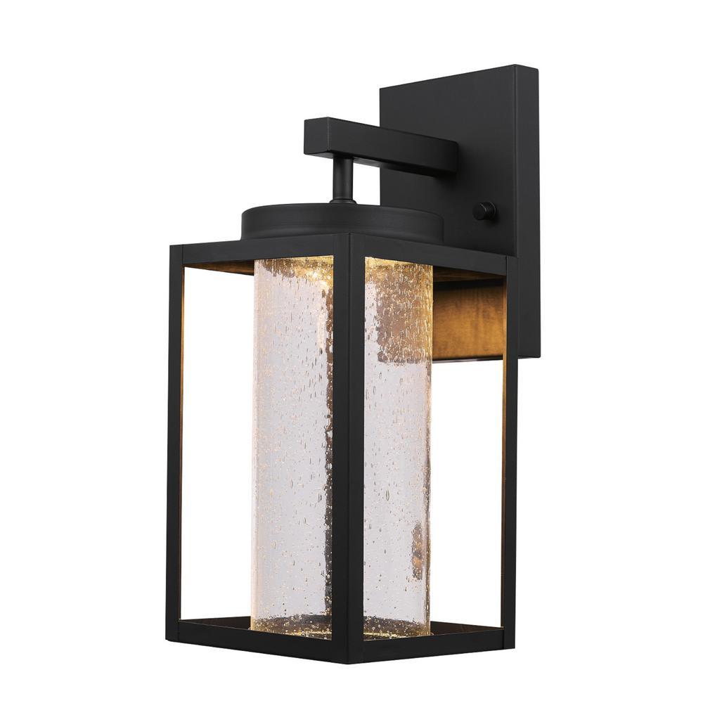Globe Electric Capulet Medium 1-Light Black LED Integrated ... on Electric Wall Sconces Indoor id=51853