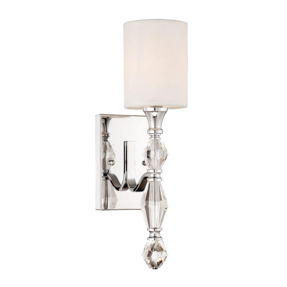 Designers Fountain Evi 1-Light Chrome Wall Sconce-89901-CH ... on Bathroom Wall Sconce Lighting id=62454