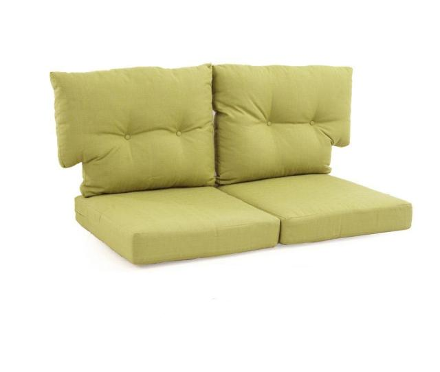 Martha Stewart Living Charlottetown Green Bean Replacement Outdoor Loveseat Cushion