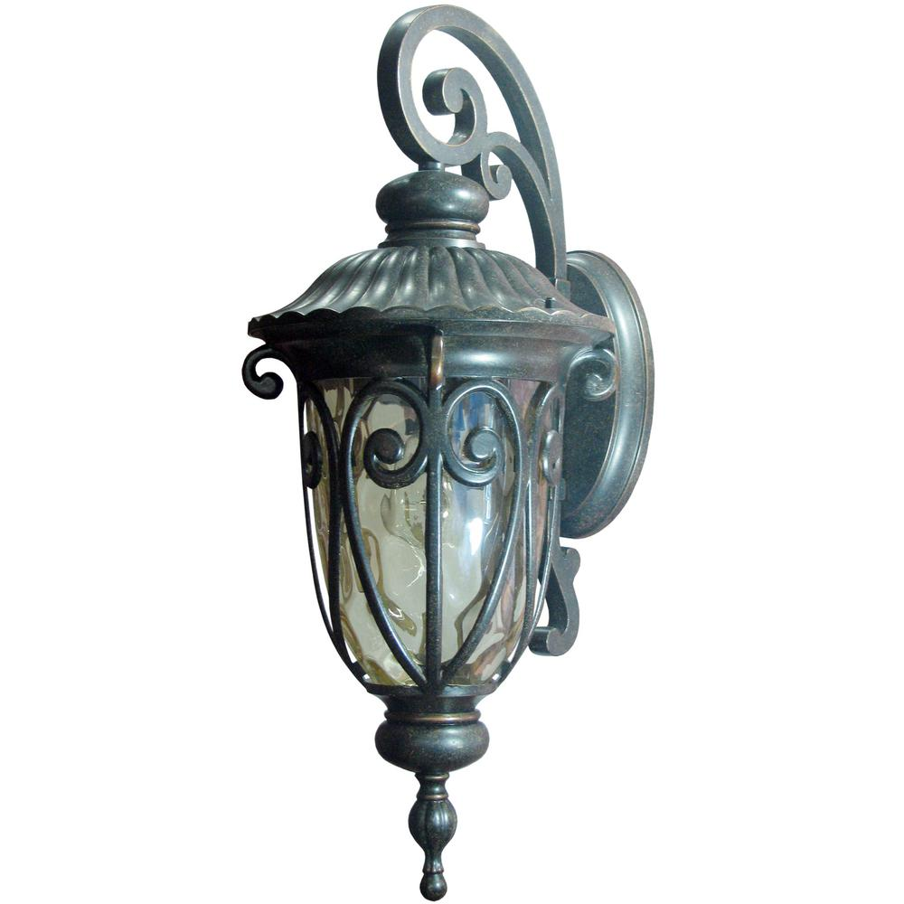Hailee 1-Light Oil-Rubbed Bronze Outdoor Wall Lantern ... on Sconce Outdoor Lighting id=89363