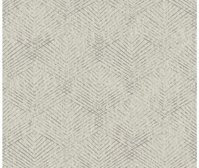 Brewster Fans Grey Texture Wallpaper