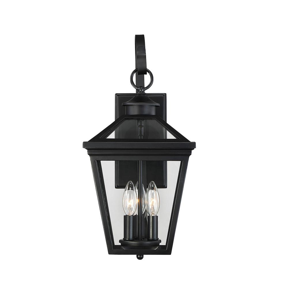 Filament Design 3-Light Black Outdoor Wall Mount Sconce ... on Sconce Outdoor Lighting id=31183