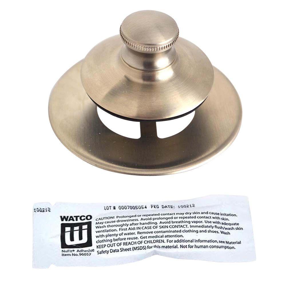 Watco Universal NuFit Push Pull Bathtub Stopper Non Grid