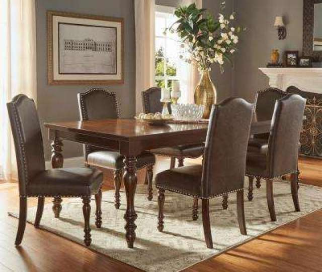Madison 7 Piece Brown Extendable Dining Set