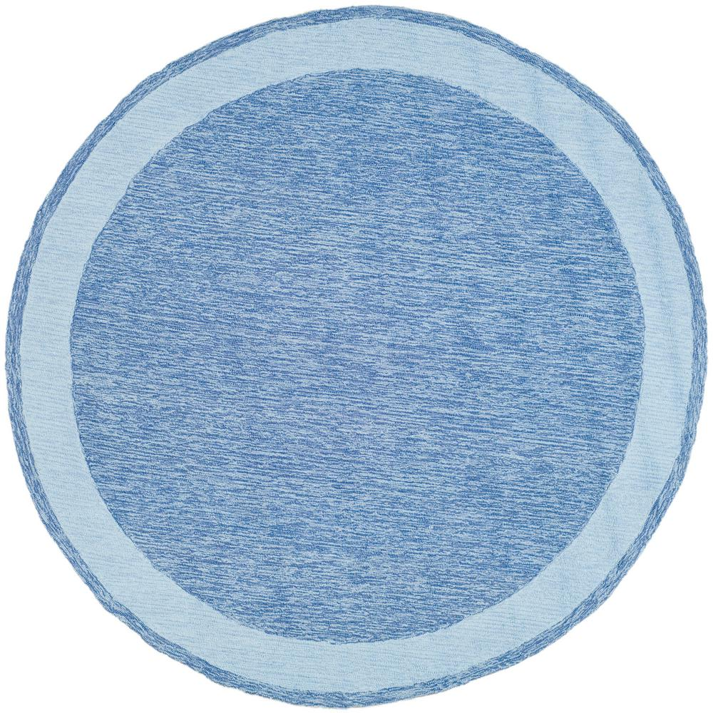 Easy Care Blue 8 ft. x 8 ft. Round Area Rug - a60