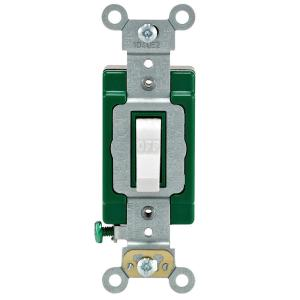 Leviton 30 Amp Industrial Double Pole Switch, WhiteR62030322WS  The Home Depot