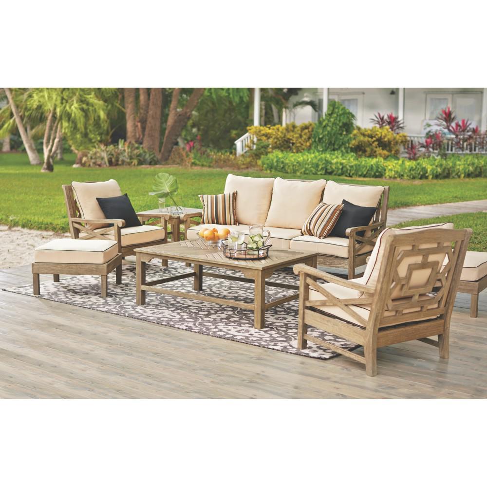 Martha Stewart Living Blue Hill Wood Outdoor Deep Seating ... on Martha Stewart 6 Piece Patio Set id=77987