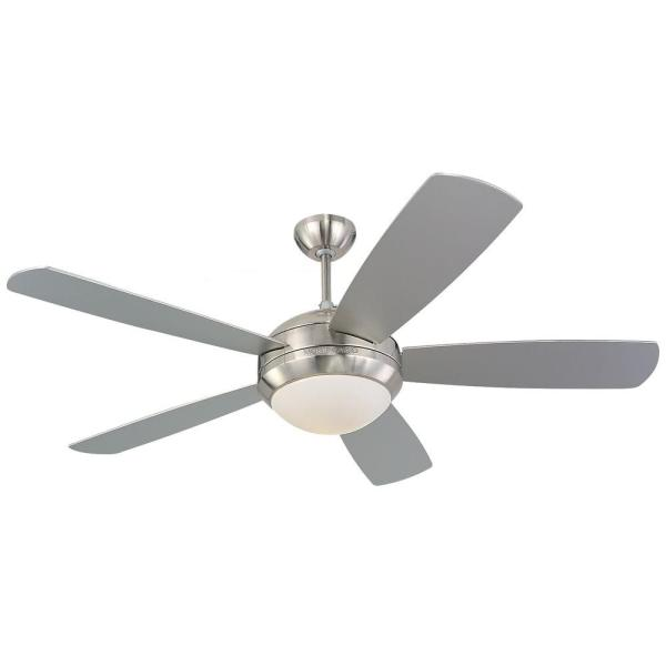 Monte Carlo Discus 52 in  Brushed Steel Silver Ceiling Fan 5DI52BSD     Brushed Steel Silver Ceiling Fan