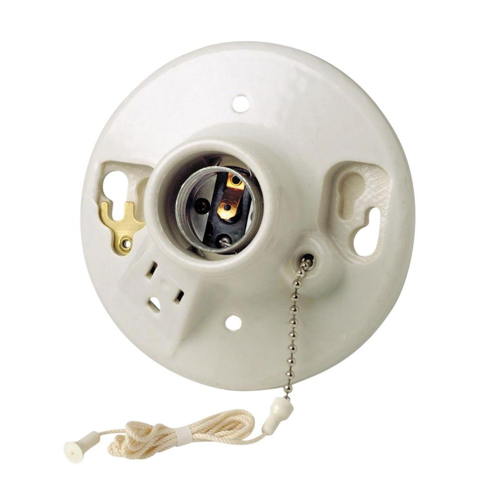 Replacement Ceramic Light Bulb Sockets Shop Cooper Wiring Devices 660watt Brass Lamp Socket At Lowescom Leviton Porcelain Holder With Pull Chain And Outlet R60 09726