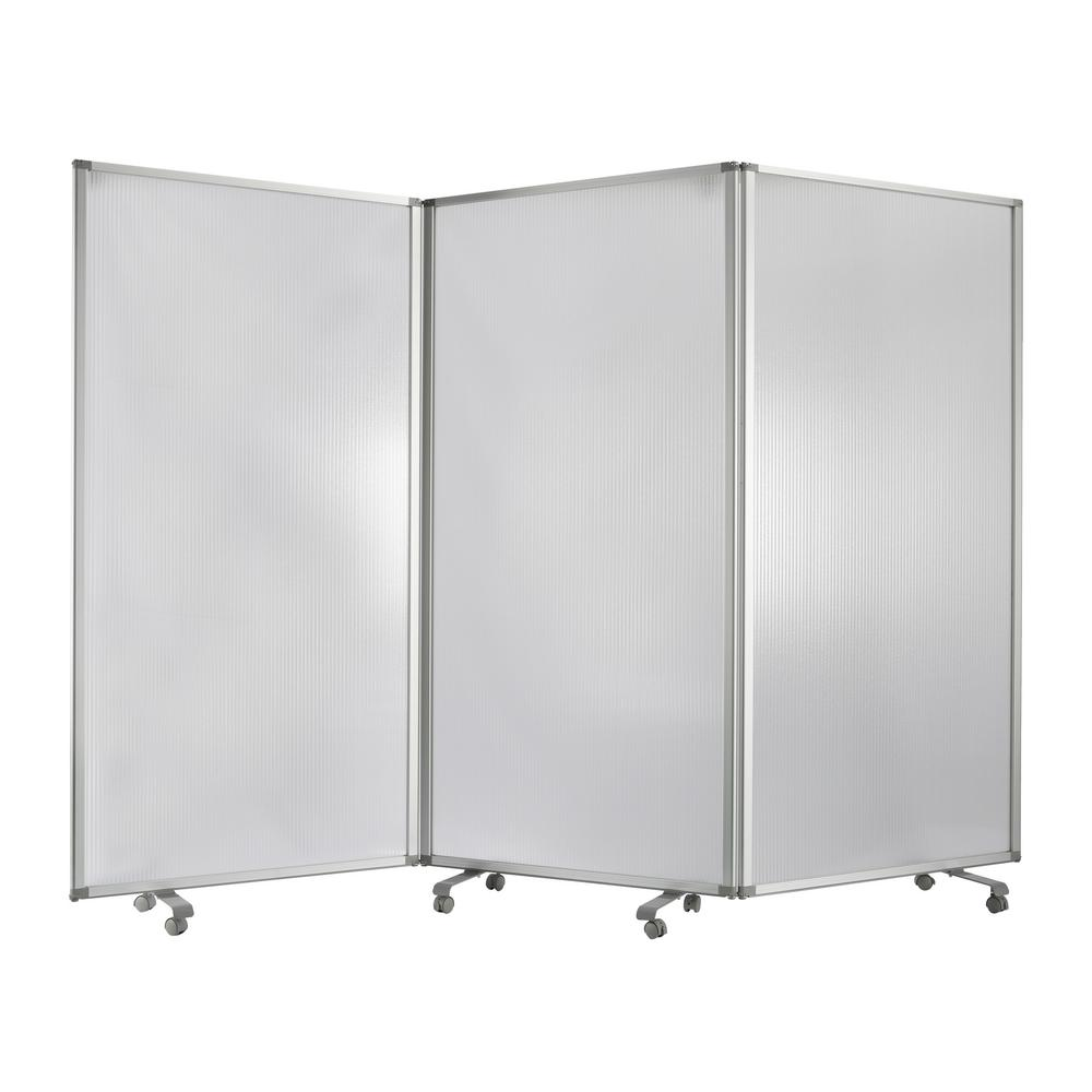 Unbranded Sg 346 Resilient Screen 6 Ft Clear 3 Panel Room Divider Sg 346 The Home Depot