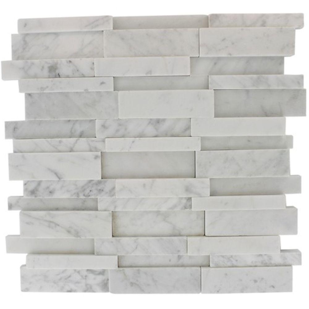Tile Marble 12 Opera Wall Stone 12 Mosaic Modern Natural X Solistone