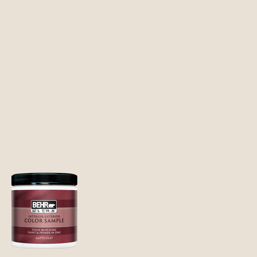 Behr Ultra 8 Oz 73 Off White Matte Interior Exterior Paint And Primer In One Sample Ul20016 The Home Depot