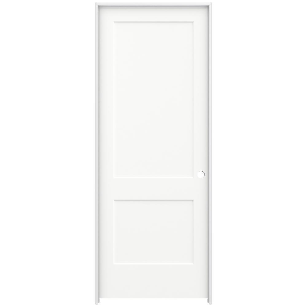 jeld wen 36 in x 96 in white painted left on 36 In X 96 In Composite White Interior Bi Fold Door id=70267