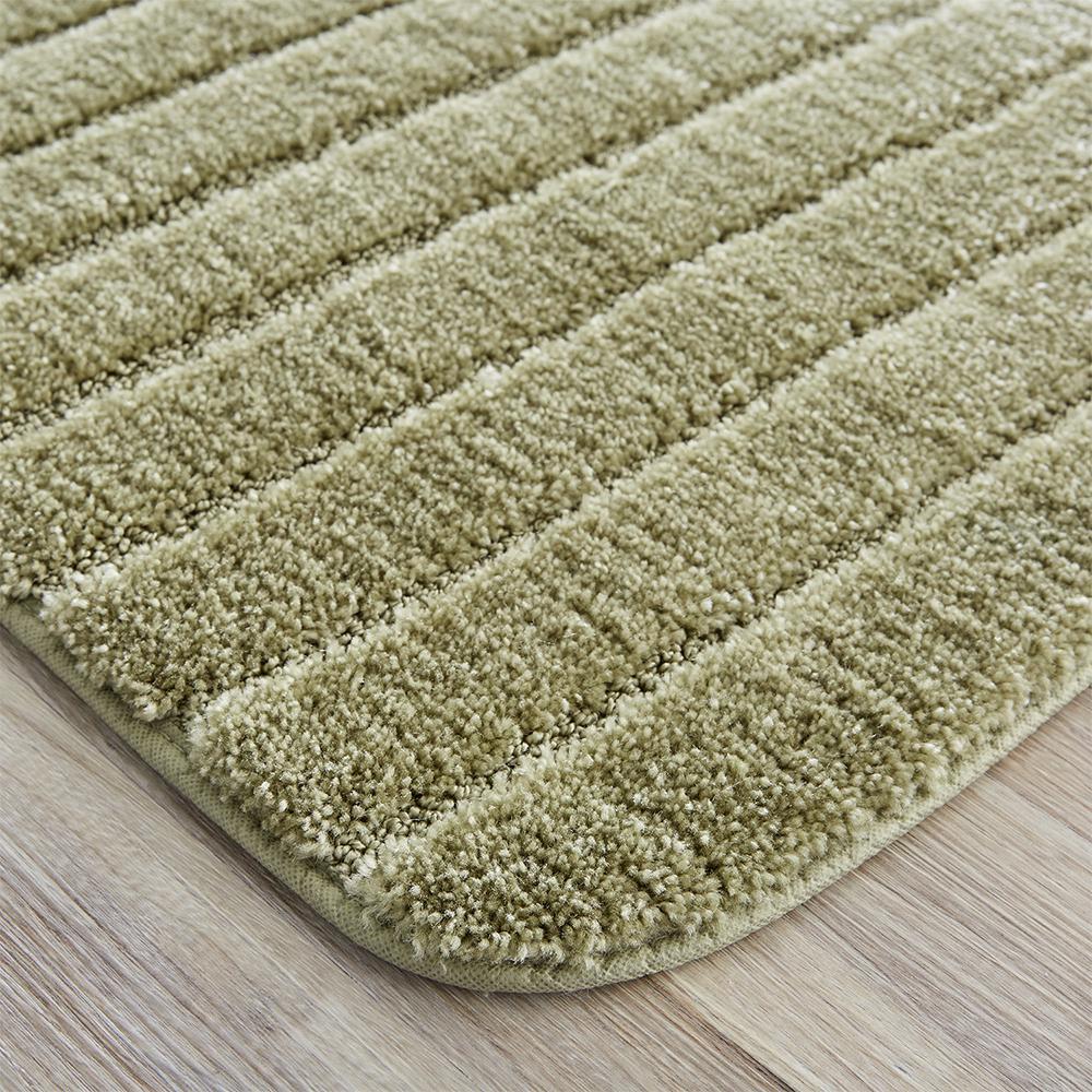 veranda bath rug olive set